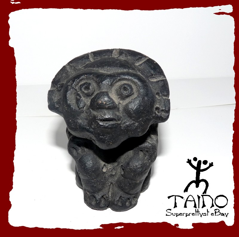 Taino Indian God Of The Sun Ceramic Fire Home Sculpture Ebay